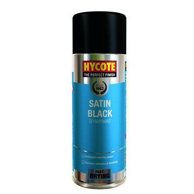 Hycote Satin Black Spray Can Paint 400ml