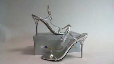 Starlight Collection Bridal/Evening Shoes - Greta - Silver - Size UK 5 - #38R235