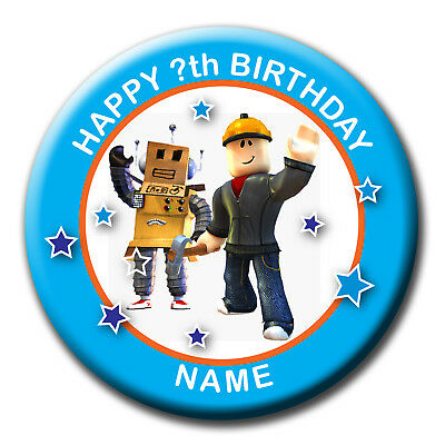 PERSONALISED BIRTHDAY ROBLOX BADGE / MAGNET / MIRROR 58MM or 77MM