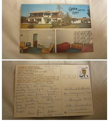 Old New Zealand Postcard, Cambridge, The Cambrian Lodge Motel