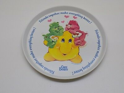 Care Bears Child Plate 1983 American Greetings Melamine Friends Together