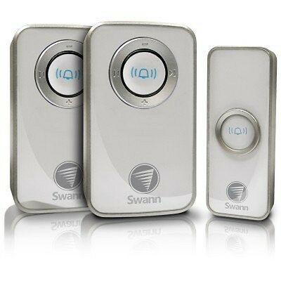 Swann Twin Pack Wireless Door Chime Bell with Mains