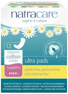 NATRACARE Super Plus Pads 12