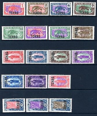 CHAD-1922 MOUNTED MINT SET OF 18 Sg 1-18 V18096