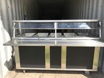 5 Well Steam Table  Excellent Condition Piper Pro
