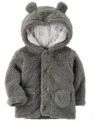 CARTERS Baby Sherpa Fleece Warm Jacket Boy Girl Unisex 3 6 9 12 18 24 Month NEW