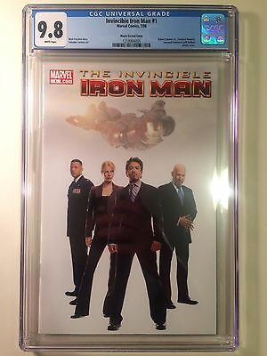 Invincible Iron Man #1 CGC 9.8 RARE Secret Movie variant 1:100 Highest Graded!