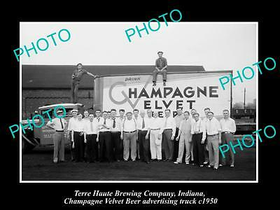 Old Historic Photo Of Terre Haute Brewery Indiana, Champagne Velvet Beer Truck 3
