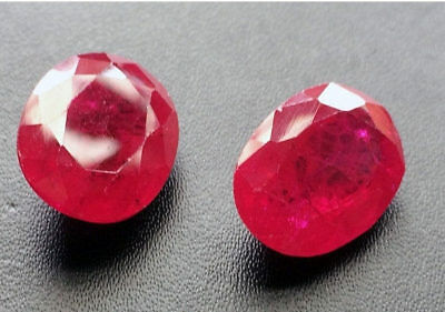12 Carat Ruby Chatham, Loose Ruby Chatham Pear Faceted Ruby Chatham Red Chatham