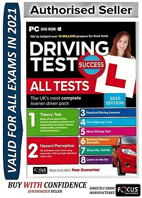 2019 Driving Theory Test All Tests & Hazard Perception PC DVD NEW atpc