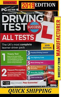 2019 Driving Theory Test Success All Tests & Hazard Perception PC Rom New atpc