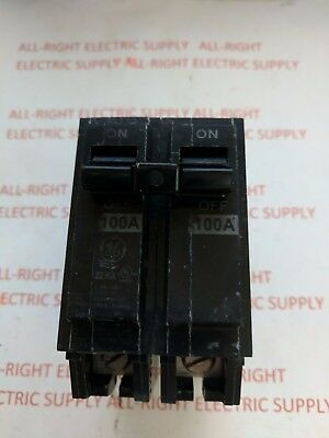 New GE GENERAL ELECTRIC THQL21100  2 POLE  100 AMP 240 VAC CIRCUIT BREAKER