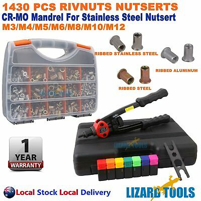 1350pcs Nutsert Tool Kit Rivnut Stainless Steel Rivet Nut Gun Mandrels