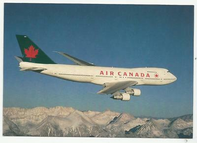 Airline issue postcard - Air Canada Boeing 747 C-FTOC