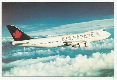 Airline issue postcard - Air Canada Boeing 747