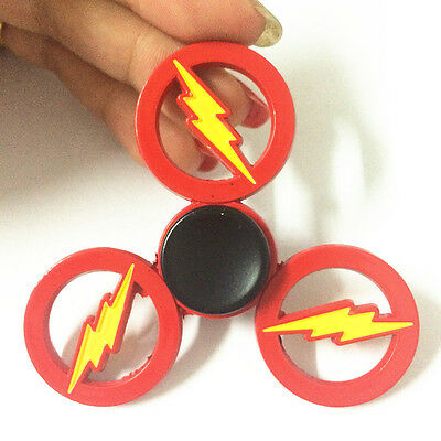 DC Superhero The Flash Hand Spinner Finger Fidget EDC Game Metal Gyro Toy Red