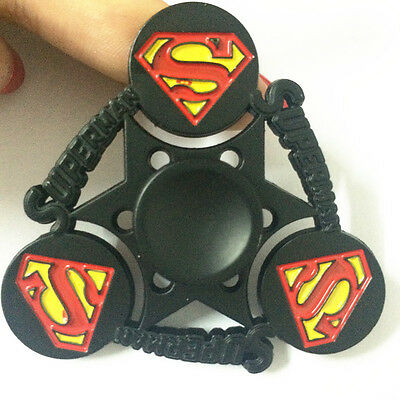Super hero Tri Fidget Hand Spinner EDC Tri-Spinner Finger Superman Focus