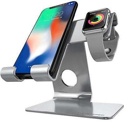 NEW! ZVE  Universal 2 In 1 Cell Phone Stand And Tablet Stand aluminium  Iwatc...