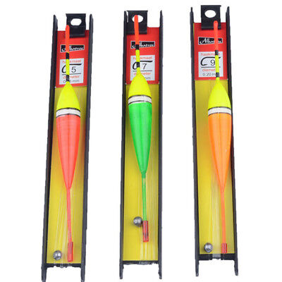 3PCS Wood Fishing Floats Bobbers Floatsing Vertical 12.5cm Fishing Tackle Tools