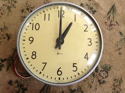 "Vintage Simplex 13"" Industrial School Clock Taken Out Of An Old School Recently"