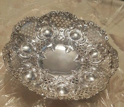 Antique Old English  Sterling   Silver Candy Dish!!!!great Shape!