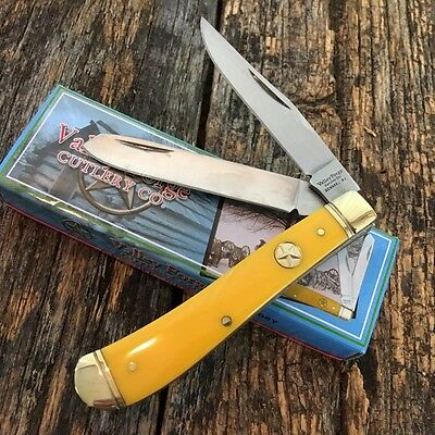 "Vintage Re-Issue VALLEY FORGE 3 7/8"" TRAPPER Pocket Knife New VF508Y Collector-F"