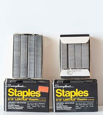"SWINGLING 9/16"" LOKTILE STAPLES - 1,000 per box - NEW !!"