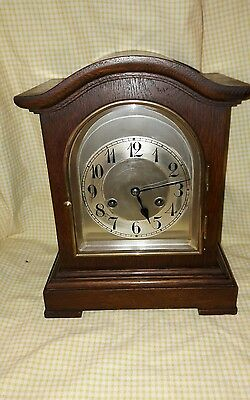 OLD VICTORIAN 2KEY STRIKING MANTLE CLOCK COMPLETE WITH PENDULUM & KEY-E.W.O Vic1