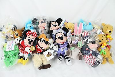 Huge 16 Disney Beanbag Plush Lot Collection w/ Tags Winnie the Pooh Mickey Mouse
