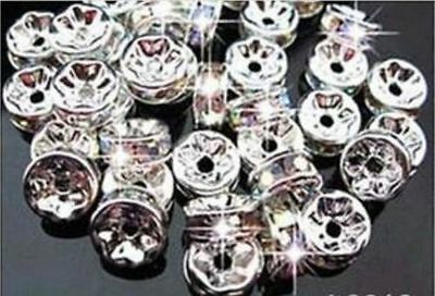 3X6MM For Rhinestones Rondelle Spacer Beads Crystal Grade 100PCS AAA