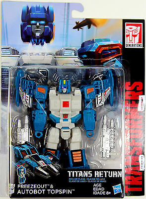 Transformers: Titans Return ~ TOPSPIN & FREEZEOUT ACTION FIGURES ~ Deluxe Class