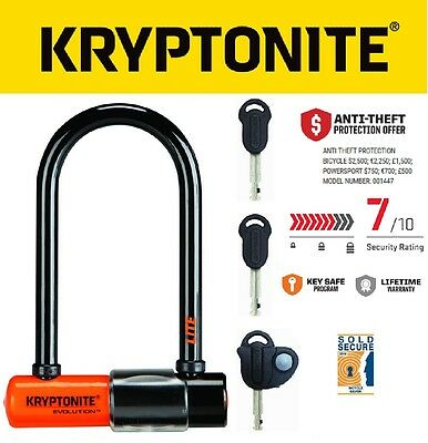 "New Kryptonite Evolution Mini 6 Lite Pocket U Lock 2.5x6"" upgraded Mini 5"