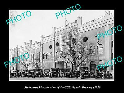 OLD LARGE HISTORIC PHOTO OF MELBOURNE VICTORIA, THE CUB VICTORIA BREWERY c1920