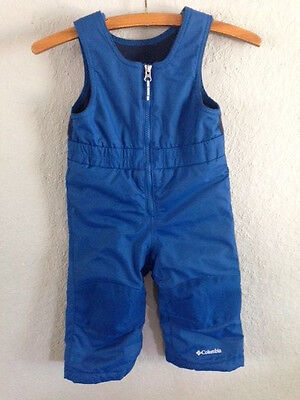 Toddler Youth Columbia Blue Snow Pants Bibs Overalls Adjustable sz 18- 24 months