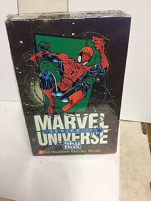 Marvel Universe series 3 cards full factory sealed  box 1992
