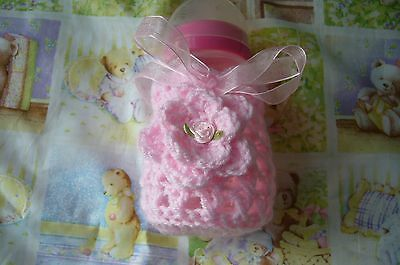 HAND CROCHET BABY BOTTLE COVER 9oz