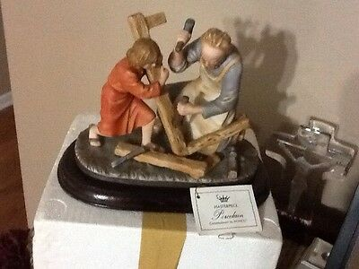 Homco Figurine The Carpenter PORCELAIN MASTERPIECE 1989 With Org Box Tag