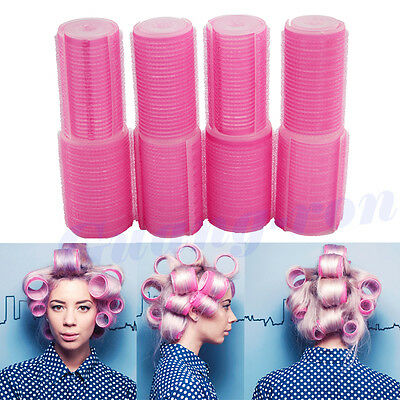 8 pcs Plastic Self Holding Grip Magic Hair Cling Rollers Pro Salon Hairdressing