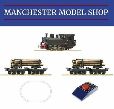 Roco 31030 HOe 009 1:87 BR99 Steam locomotive & timber train STARTER SET NEW