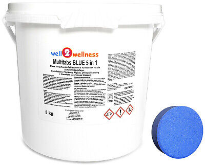 Chlorine tablets Multitabs BLUE 5 in 1 200g - 10 kg (2 x 5kg) 90% Active