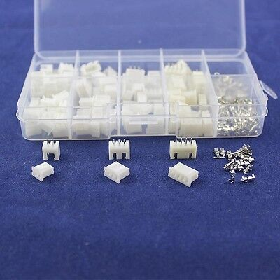 50Pcs 2.54 mm JST XH Connector Terminal Header Assortment 2 3 4 Pin Male Female