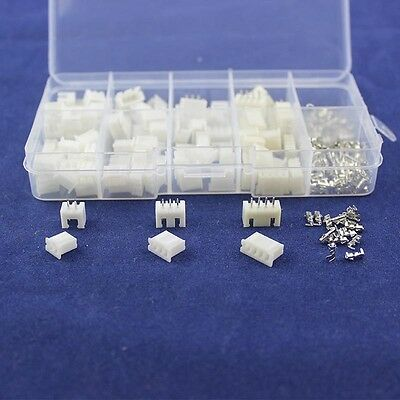 50pc 2.54 JST XH Connector Terminal Header Assortment 2 3 4 Pin Male Female Kit