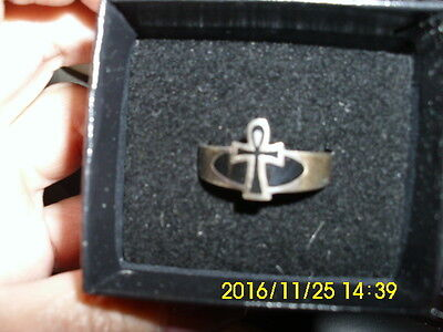 Death ANKH Sterling Silver RING size13 DC Direct 2000 NEIL GAIMAN Unused in Box
