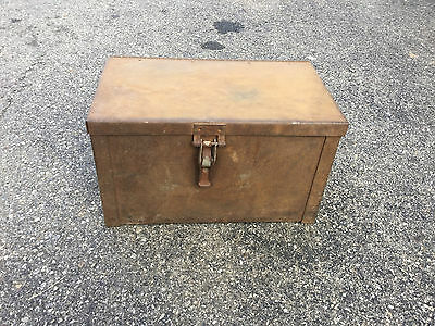 Antique HAND CRAFTED METAL Lock Box Safe LATE 1800`s EARLY 1900