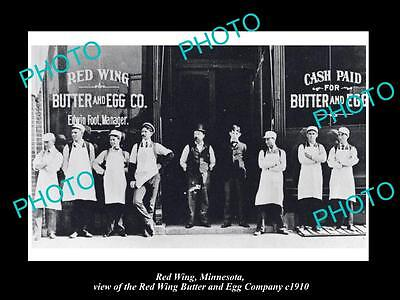 OLD LARGE HISTORIC PHOTO OF RED WING MINNESOTA, THE BUTTER & EGG Co STORE c1910