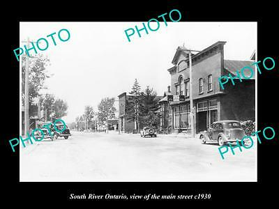 OLD LARGE HISTORIC PHOTO OF SOUTH RIVER ONTARIO, VIEW OF THE MAIN STREET c1930