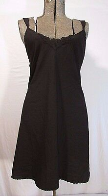 Vanity Fair Black Full Slip Sz 36 Polyester 10-631 USA Made Lingerie PIN UP