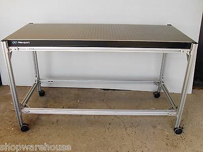 free crate 5' NEWPORT OPTICAL BREADBOARD TABLE w/ ROLL AROUND BENCH, lab laser