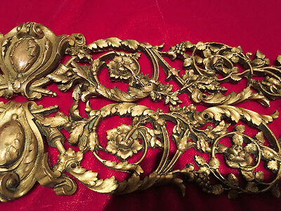 Antique French Bronze Ormolu Empire Rococo Francois Linke Furniture Trim border