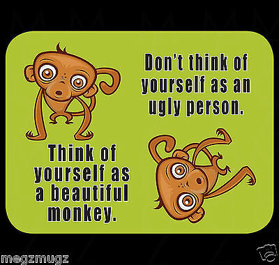Funny Don't Think of Yourself as Ugly Fridge Magnet